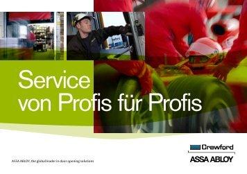 Service von Profis für Profis