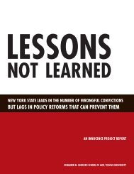 Lessons Not Learned - The Innocence Project