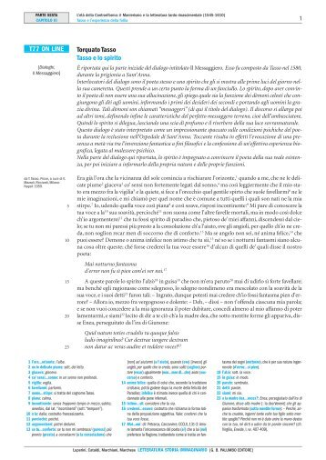 Torquato Tasso Tasso e lo spirito T77 ON LINE - Palumbo Editore
