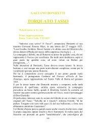 TORQUATO TASSO - Magia dell'Opera