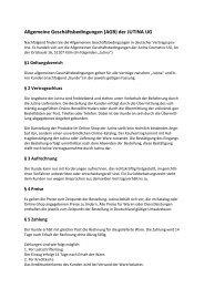 Allgemeine Geschäftsbedingungen (AGB) der JUTINA UG