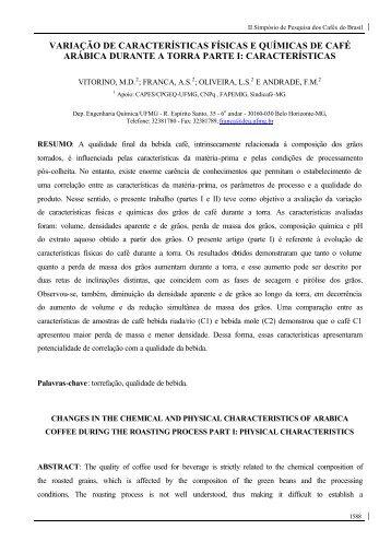 variação de características físicas e químicas de café arábica ...