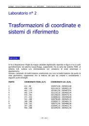 Trasformazioni di coordinate e sistemi di riferimento - laboratorio di ...
