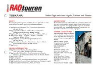 Radreise Toscana - Radtouren Magazin