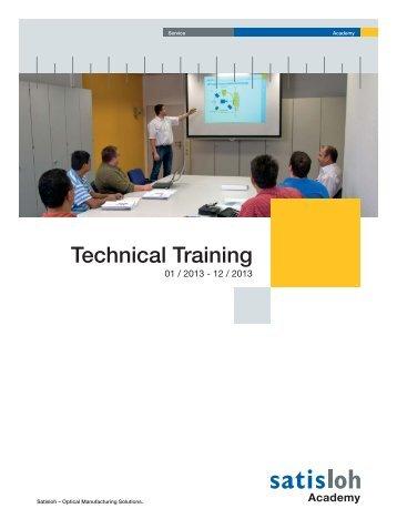 Training Schedule USA - Satisloh