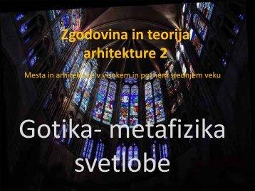 Gotika‐ metafizika svetlobe