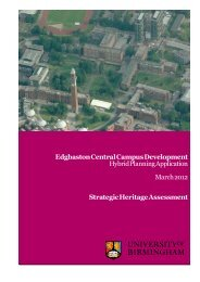 Heritage - University of Birmingham Intranet