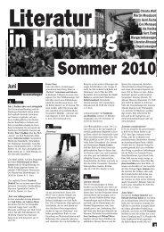 Juni, Juli, August 2010 - Literatur in Hamburg