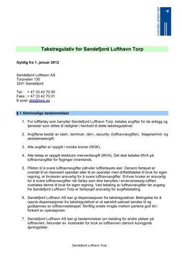 Last ned pdf av takstregulativ her - Torp
