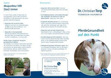 PferdeGesundheit auf den Punkt - Dr. Christian Torp