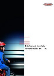 Entraînement EazyMatic Tormotor types TM1 TM2