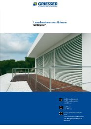 Lamellenstoren von Griesser. Metalunic®