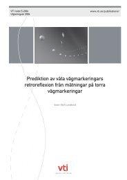 Forskningsområde - VTI