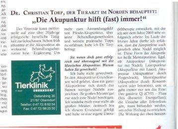 """""""Die Akupunktur hilft (fast) immer!"""" - Dr. Christian Torp"""