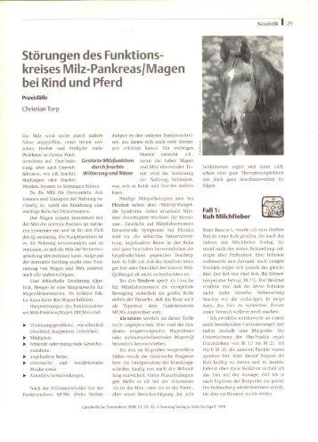 kreises Milz-Pankreas/Magen bei Rind und Pferd - Dr. Christian Torp