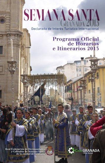 Programa Oficial de Horarios e Itinerarios 2013