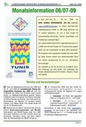 Mitgliederinformation 06/07-2009 - LJBW eV