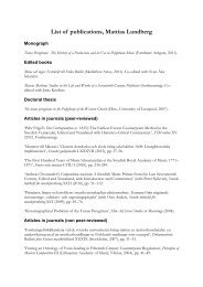 Complete list of publications