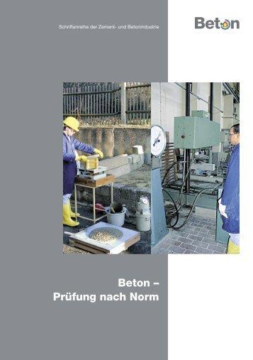 Beton – Prüfung nach Norm - Betonshop
