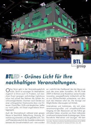 BTLnews - BTL GROUP Veranstaltungstechnik