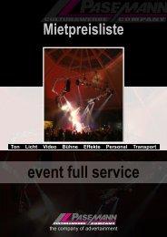 event full service - CWC PASEMANN