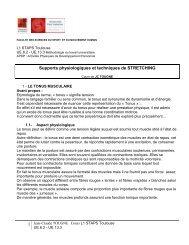La régulation du tonus musculaire