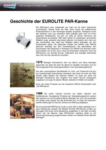 Geschichte der EUROLITE PAR-Kanne.pdf - Steinigke Showtechnic ...