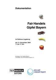 Fair Handels Gipfel Bayern - Fair Handeln Bayern