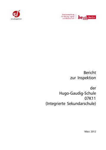 Bericht 07K11 - Die Hugo-Gaudig-Schule