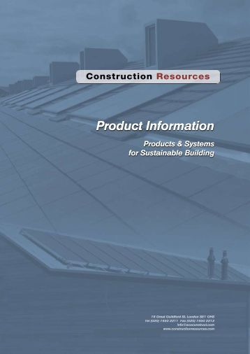 Product Information - Construction Resources