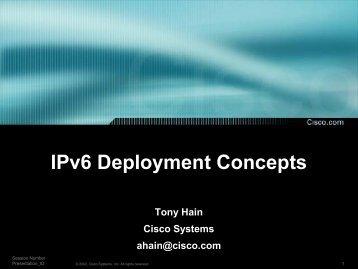 Tony Hain Presentation - nanog