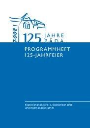 125 Jahre PÄDA - Otto Kühne Schule