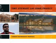 Tony stewart log HOME project - Pioneer Log Homes