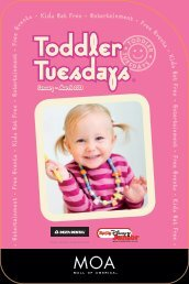 Download the Toddler Tuesdays brochure - Mall of America
