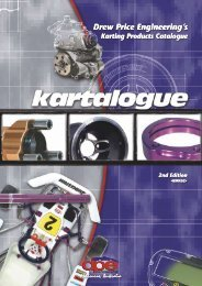 Drew Price Engineering's Karting Products Catalogue 2nd Edition