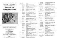 Sankt Augustin Beiträge zur Stadtgeschichte - Stadt Sankt Augustin