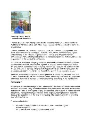 Anthony (Tony) Baylis - Association for Computing Machinery