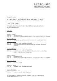 veranstaltungsprogramm im liebieghaus oktober ... - Städel Museum