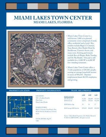 MIAMI LAKES TOWN CENTER - Urban Retail Properties