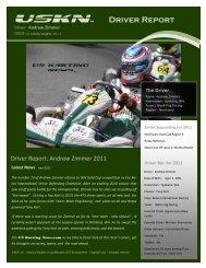 Uskn Driver report 2011 fp zimmer - US Karting News