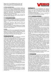 Allgemeine Geschäftsbedingungen - beim Venus Tonwerk