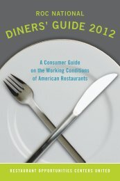 ROC National Diners' Guide 2012 - Wage and Hour Law Blog