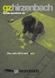 Februar März April - Zürcher Gemeinschaftszentren
