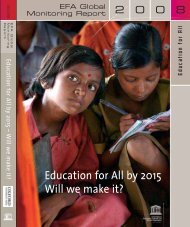 Education for All by 2015: will we make it? EFA ... - unesdoc - Unesco