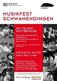 Flyer Musikfest Schwamendingen - züri-nord.info