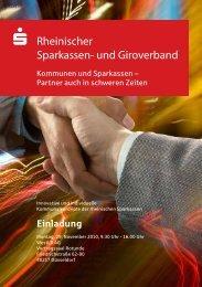 Kommunen und Sparkassen – Partner auch in schweren Zeiten