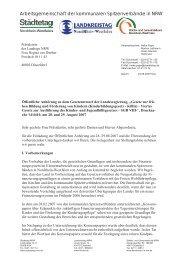 Stellungnahme KiBiz - Landkreistag NRW