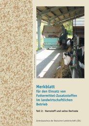 Merkblatt für den Einsatz von Futtermittel-Zusatzstoffen im - DLG
