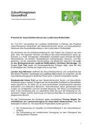 Protokoll der Gesundheitskonferenz Wolfenbüttel - Landkreis ...