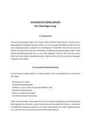 DATENSCHUTZERKLÄRUNG Eric Ölschläger-Lang